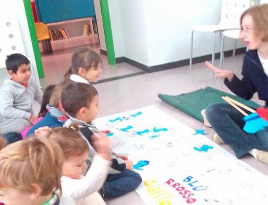 Asilo Quiliano - laboratori in biblioteca